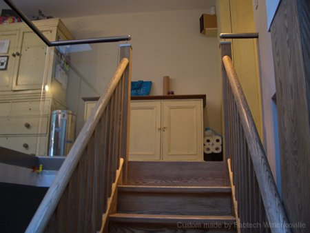 Stainless Steel Hand Rails with Wood Bannister