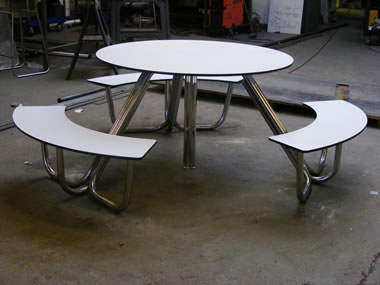 Stainless steel picnic bench